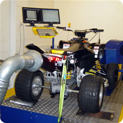 Can Am DS450 on dyno